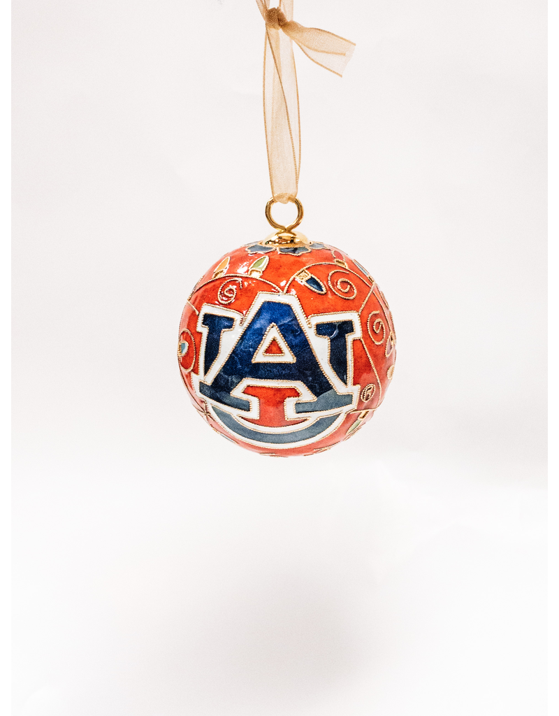 AU Multi-Colored Lights Orange Ornament