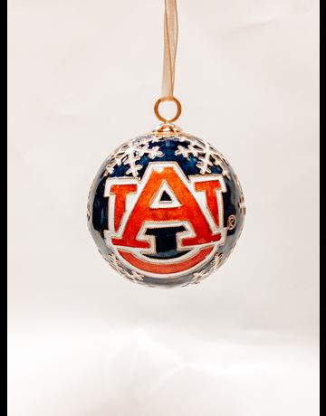 Auburn Snowflakes Navy Ornament