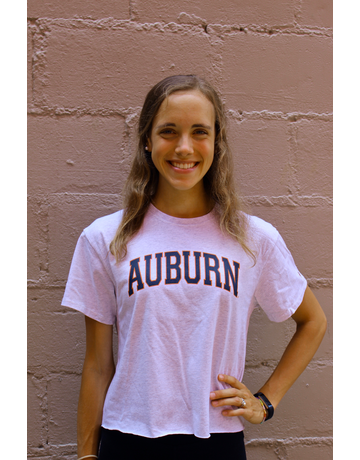 League Arch Auburn Cotton Crop Top