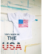 Made in the USA Watercolor Flag Toddler T-Shirt