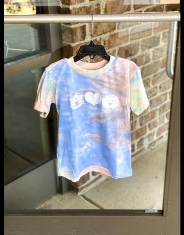 MV Sport AU Heart Aubie Youth Tie-Dye T-Shirt