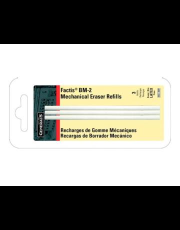 Factis Pen Style Eraser Refills, 3 Pieces, Carded