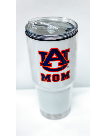 AU Mom 24 oz. White Tumbler