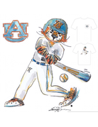 Aubie Baseball T-Shirt