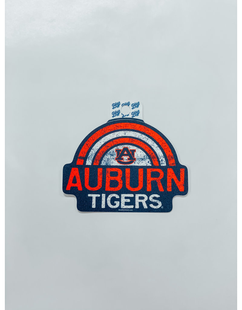 Blue 84 Orange/White Rainbow Auburn Tigers Decal