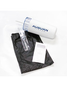 Auburn Tigers White Tumbler with Straw and Carrying Bag