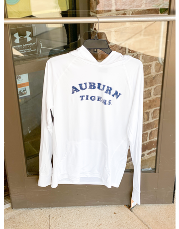 MV Sport Arch Auburn Tigers Hooded Long Sleeve Sunproof T-Shirt