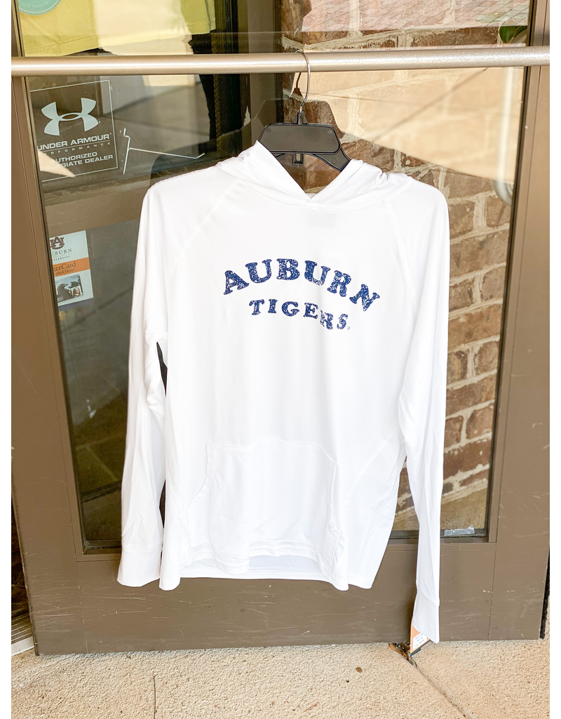 MV Sport Arch Auburn Tigers Hooded Long Sleeve Sunproof T-Shirt