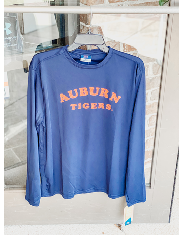 MV Sport Arch Auburn Tigers Long Sleeve Sunproof T-Shirt