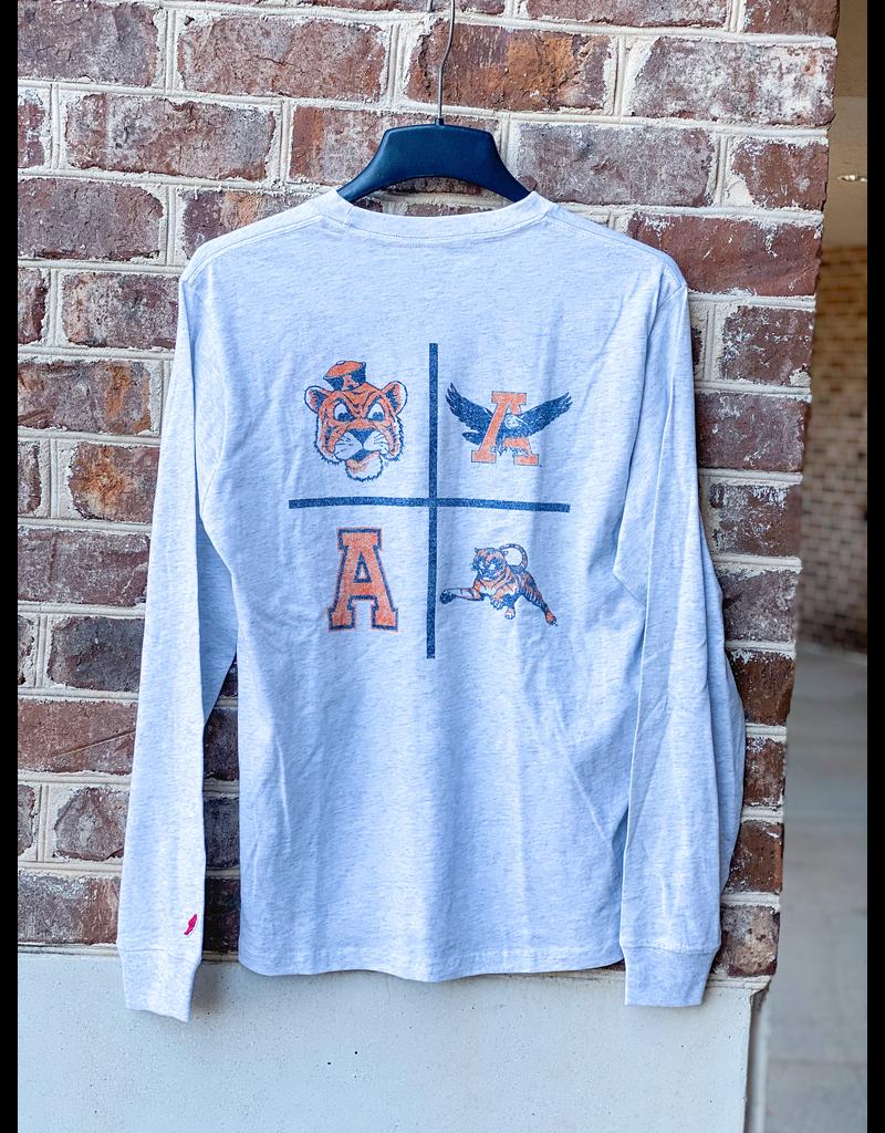 League Four Square Vintage Logos Long Sleeve Pocket T-Shirt
