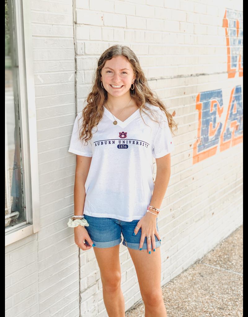 League Auburn University 1856 V-Neck T-Shirt