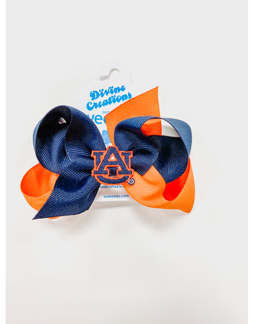 Medium 2 Tone Bow with AU Patch