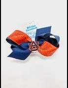 Medium Glitter Bow with AU Patch