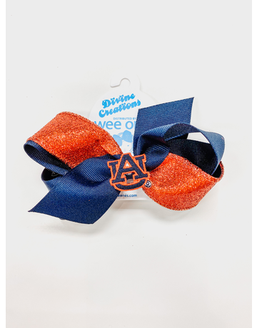 Medium Glitter Bow with AU Patch