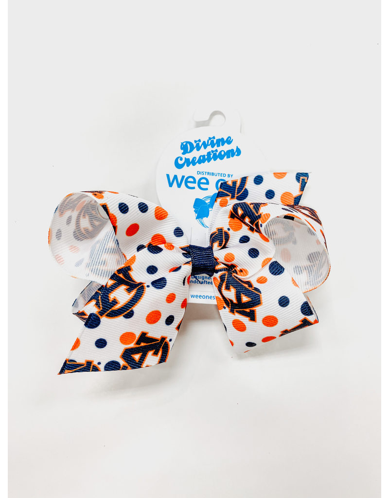 Medium AU Polka Dot Bow