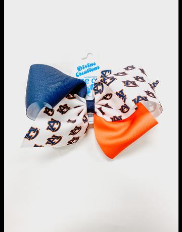 Large AU Colorblock Bow