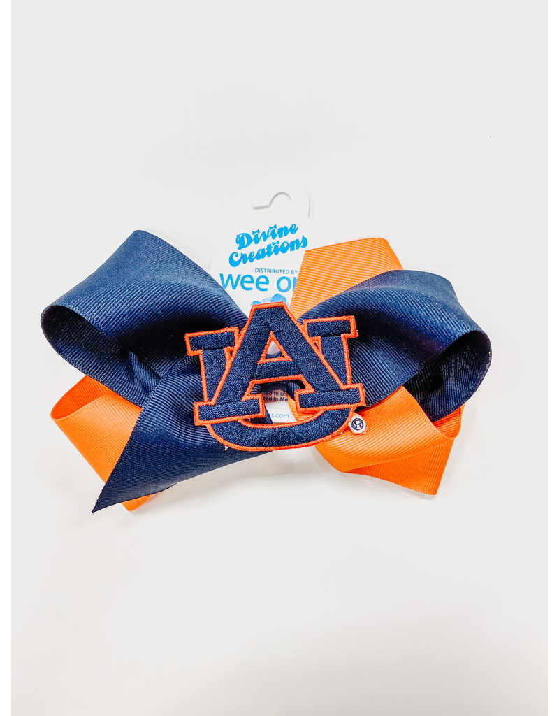 Large 2 Tone Bow with AU Patch