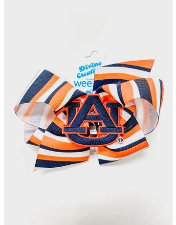 AU Stripe Print Large Bow