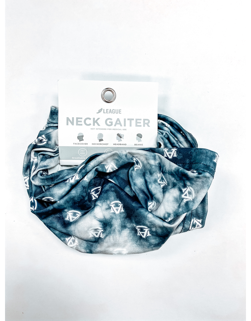League AU All Over Navy / Charcoal Tie Dye Neck Gaiter Mask