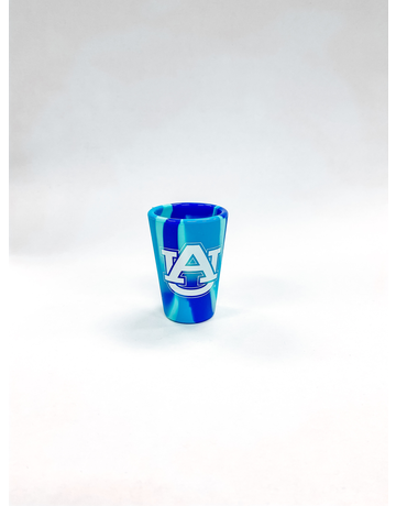 AU Navy Tie Dye Silicone Shot Glass