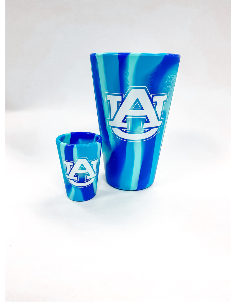 AU Navy Tie Dye Silicone Shot Glass