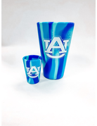 AU Silicone Navy Tie-Dye Pint Cup