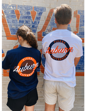 MV Sport Vintage Auburn Tigers University 80's Throwback Circle T-Shirt
