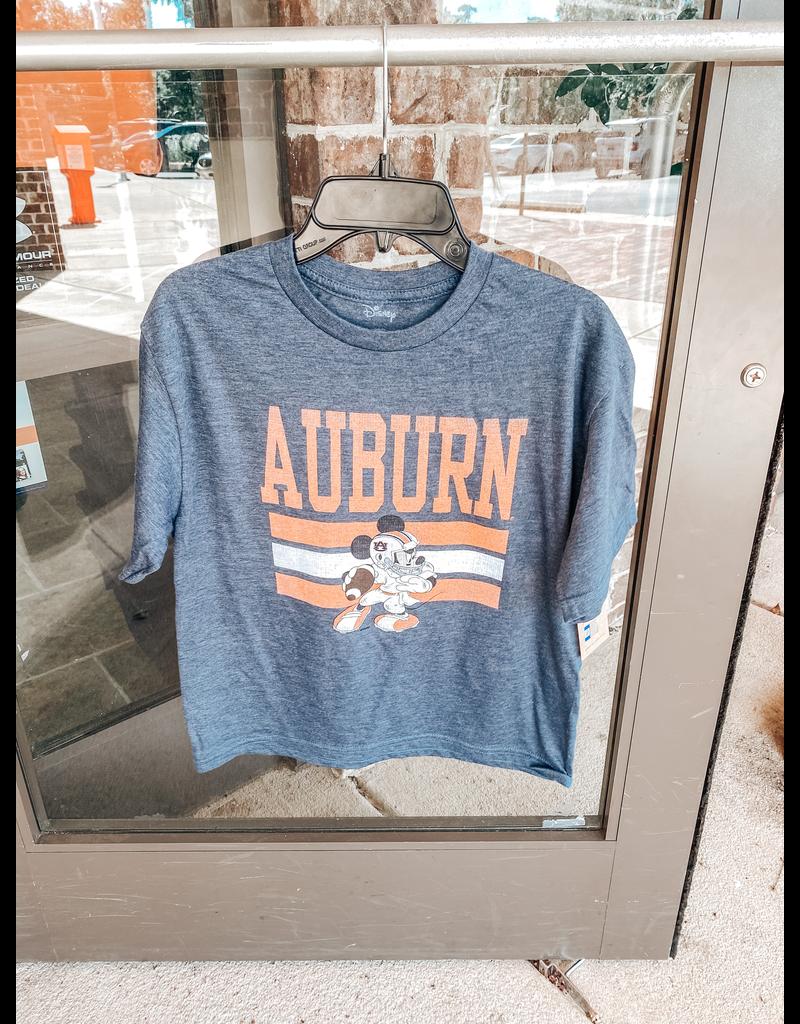 Blue 84 Auburn Triple Bar Football Mickey Mouse Youth T-Shirt