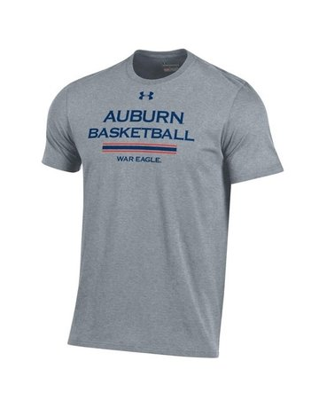 Under Armour Youth Auburn Basketball War Eagle Stripe Bi-Blend T-Shirt