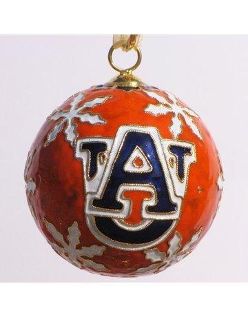 Auburn Snowflakes Orange Ornament