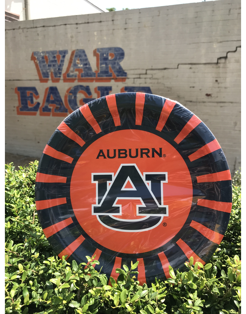 "Auburn 9"" Round Paper Plates - 8 Pack"