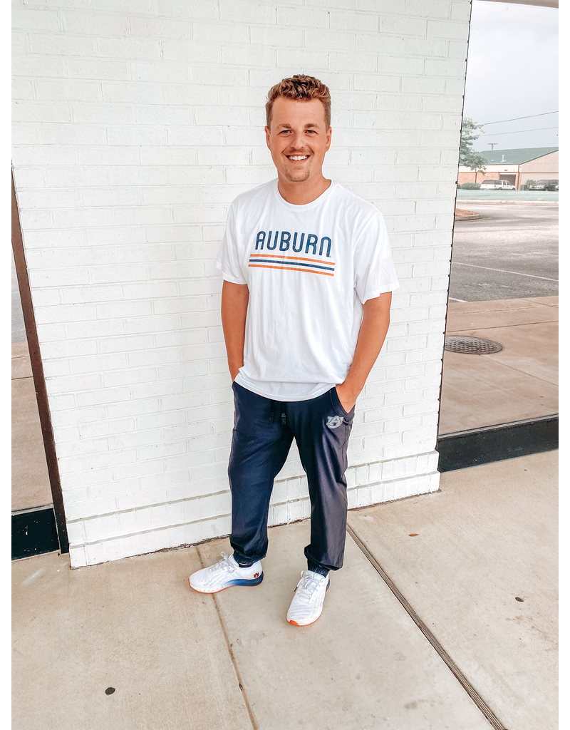 League Block Auburn Tri-Stripe T-Shirt