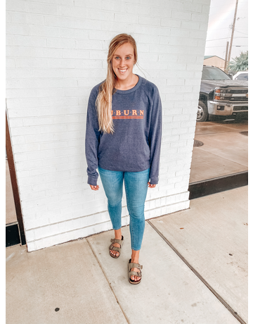Auburn Dotted Triple Bar Retro Crew