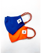 Pom Mask 2-Pack, Orange/Navy