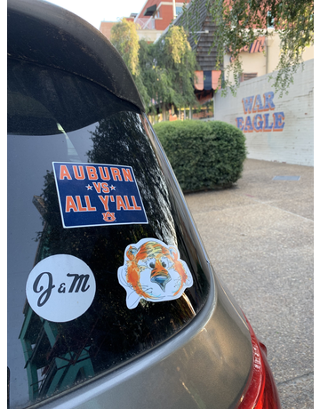 Watercolor Aubie Decal