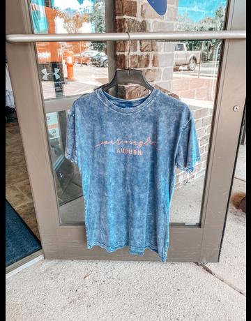 Script War Eagle over Auburn Washed Denim T-Shirt