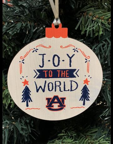 Wood Round Joy to the World Ornament