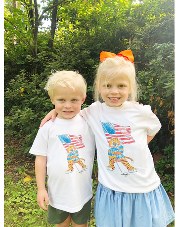 The Local Market 100% MADE IN THE USA Watercolor Aubie Flag Toddler T-Shirt