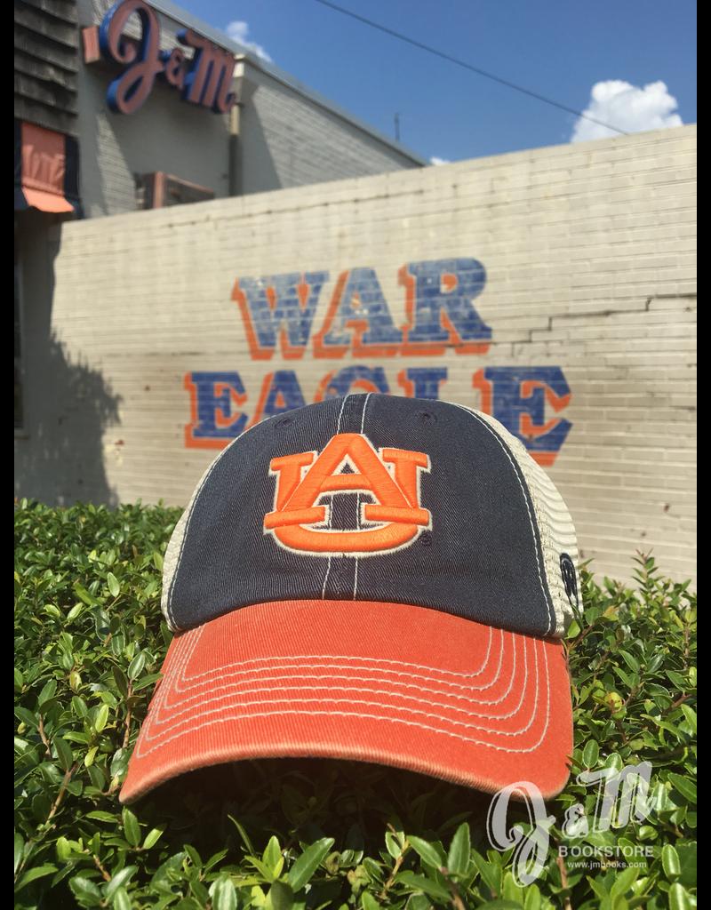 AU Three Tone Mesh Offroad Hat, Navy Orange Ivory