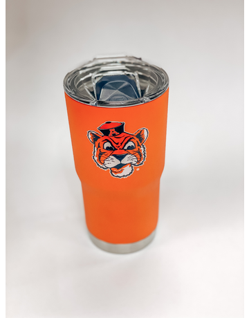 Vintage Aubie Orange 20 oz. Tumbler with Lid