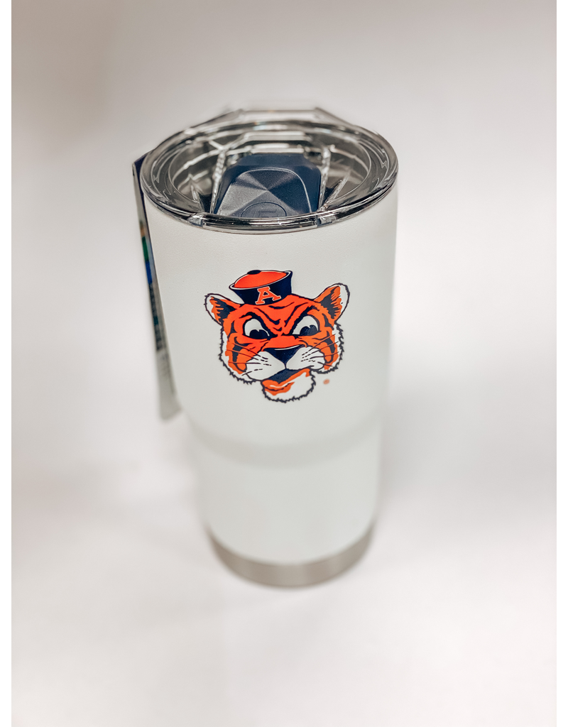 Vintage Aubie White 20 oz. Tumbler with Lid
