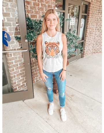 Stewart Simmons Tiger Head Tank Top