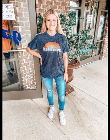 MV Sport Auburn Tigers Sunrise Arch Heathered T-Shirt