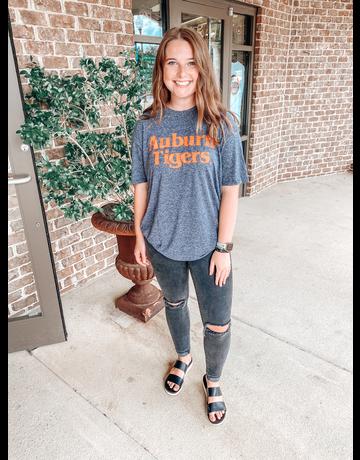 MV Sport Block Auburn Tigers Heathered Aspen T-Shirt
