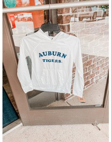 MV Sport Auburn Tigers Sunproof Long Sleeve Youth T-Shirt with Hood