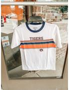 Tigers AU Short Sleeve Ringer Top