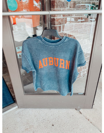 Chicka-D Arch Auburn Corded Throwback T-Shirt