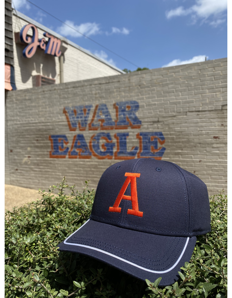 The Game Classic A Navy Throwback Hat with Band
