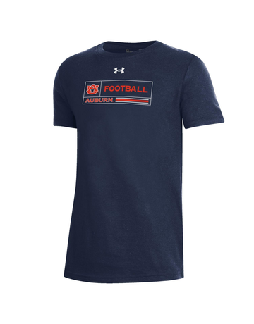 Under Armour F20 Sideline AU Football Auburn Boxed Youth T-Shirt