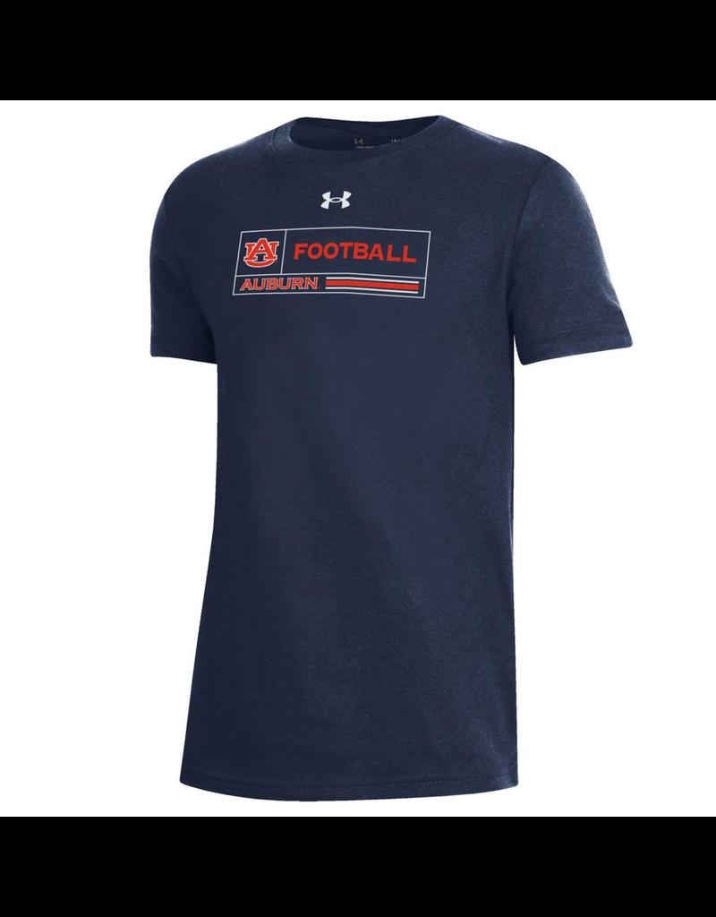 Under Armour F20 Sideline AU Football Auburn Boxed Youth T-Shirt